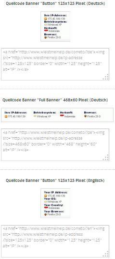 Tampilan IP Address pada Web wieistmeineip.de